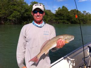 Capt Carlos With a Redfish in Islamarada FL