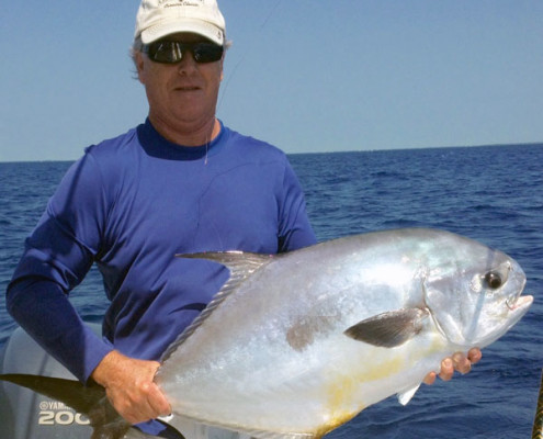 Permit caught while Backcountry Fishing in Islamorada FL